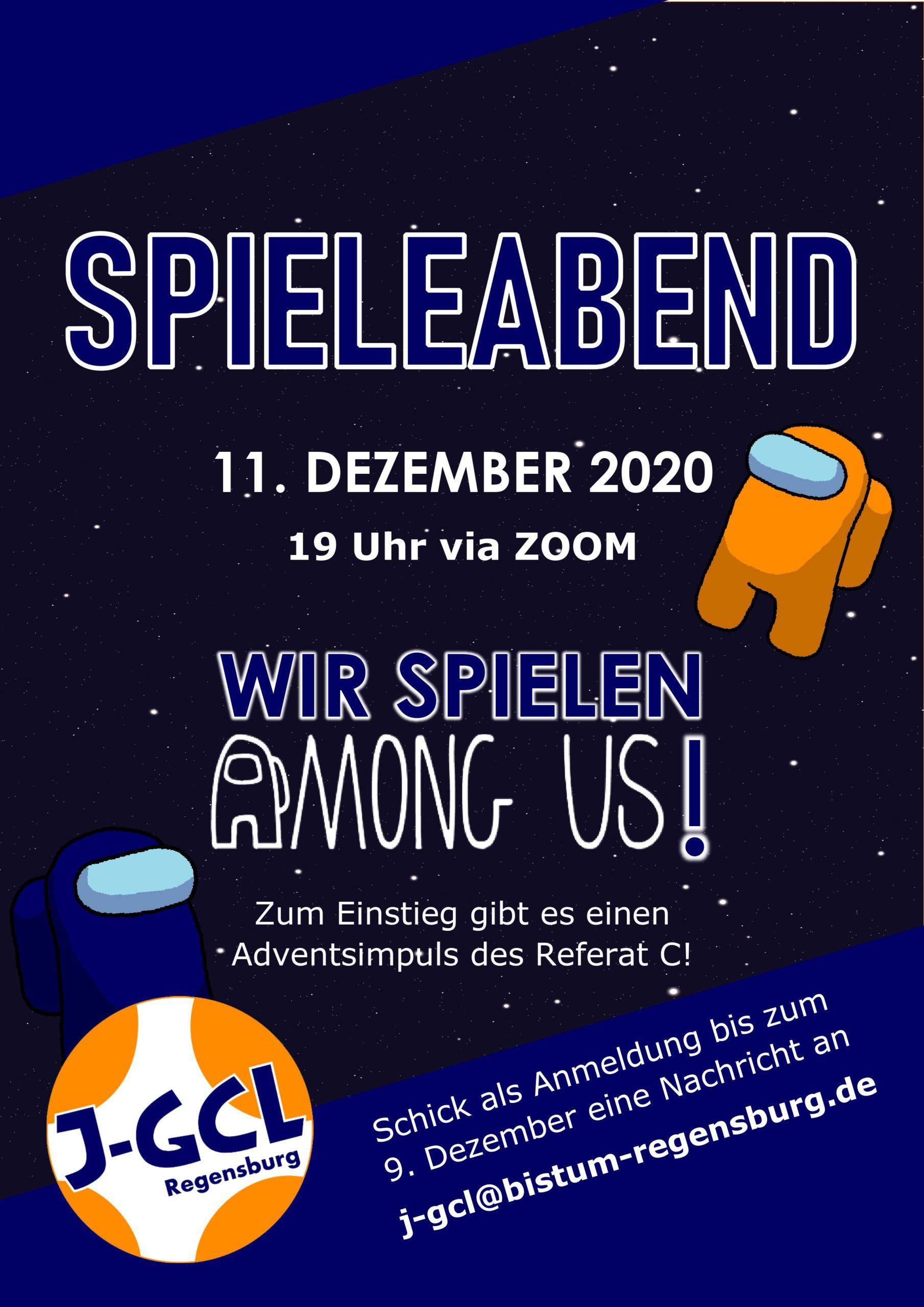 Einladung Spieleabend 11. Dezember