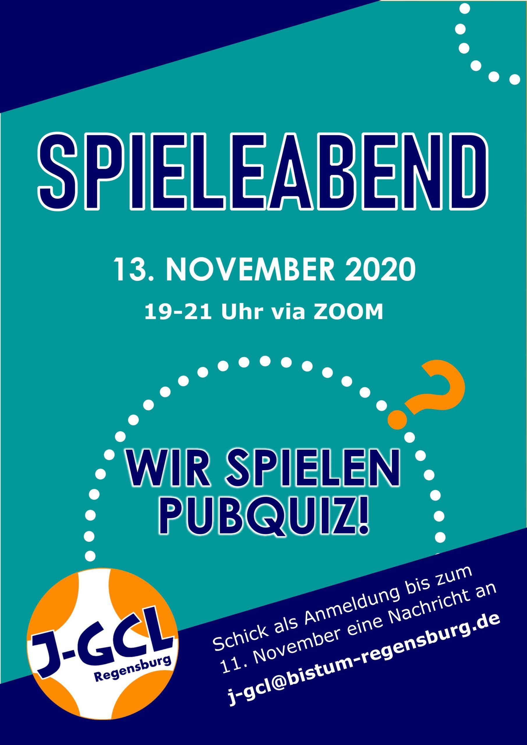 Einladung Spieleabend 13. November