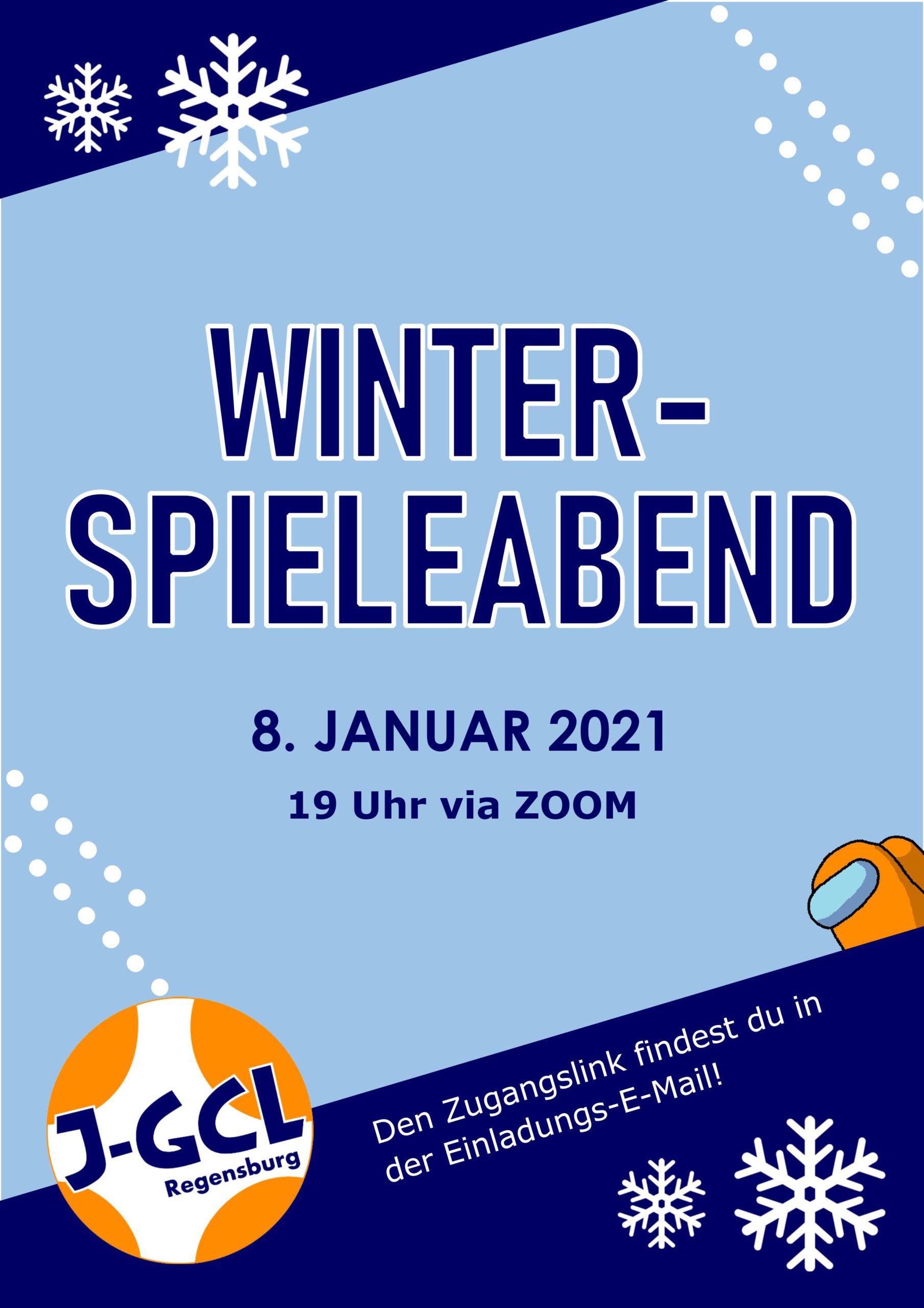 Einladung Spieleabend 8. Januar