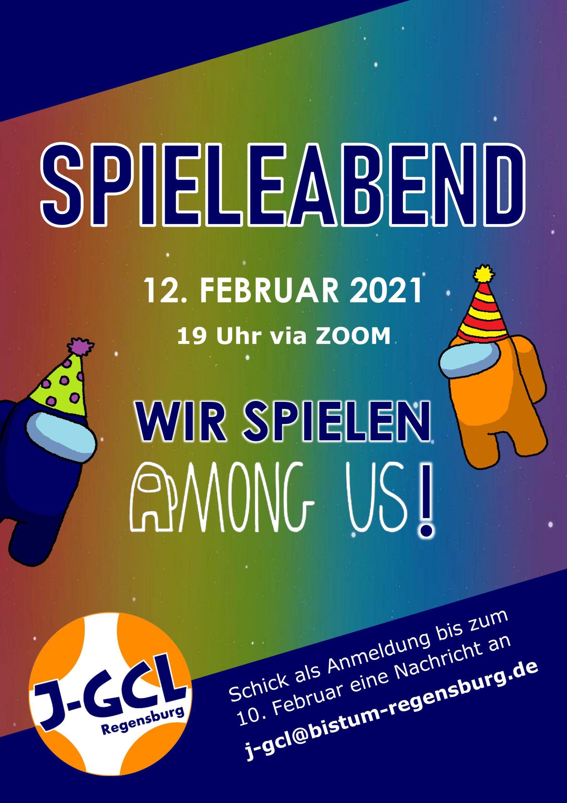 Einladung Spieleabend 12. Februar