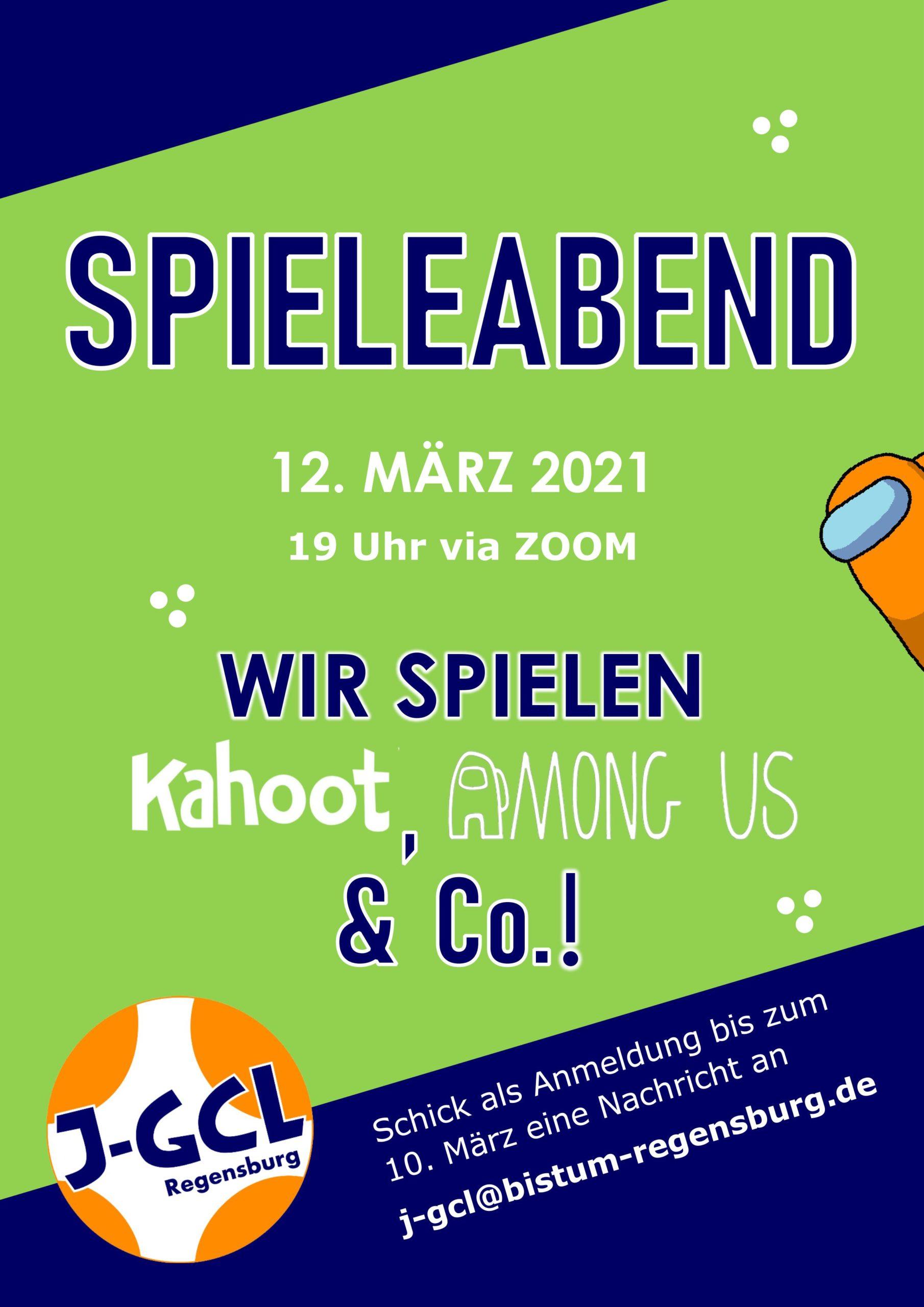 Einladung Spieleabend 12. März