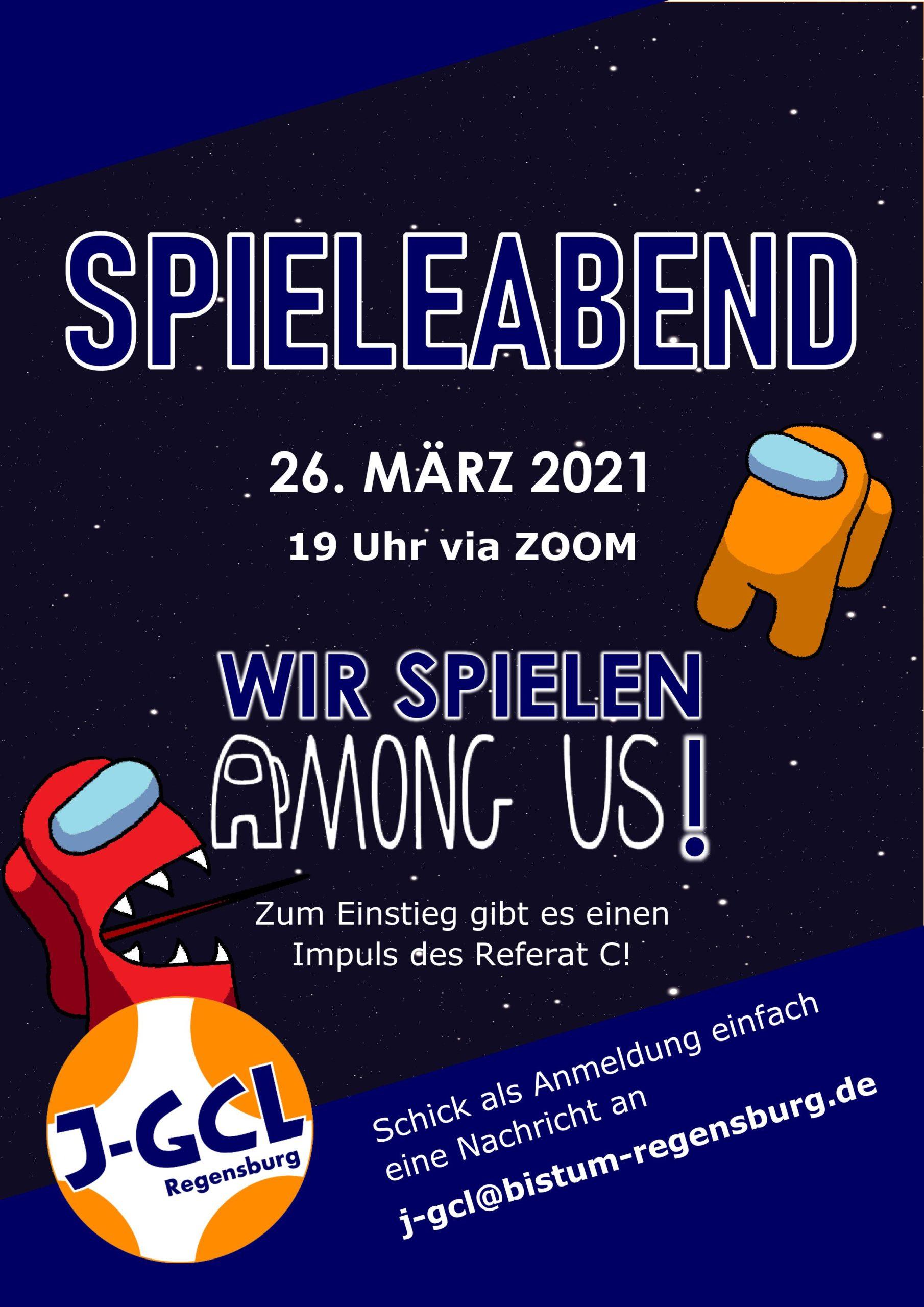 Einladung Spieleabend 26. März