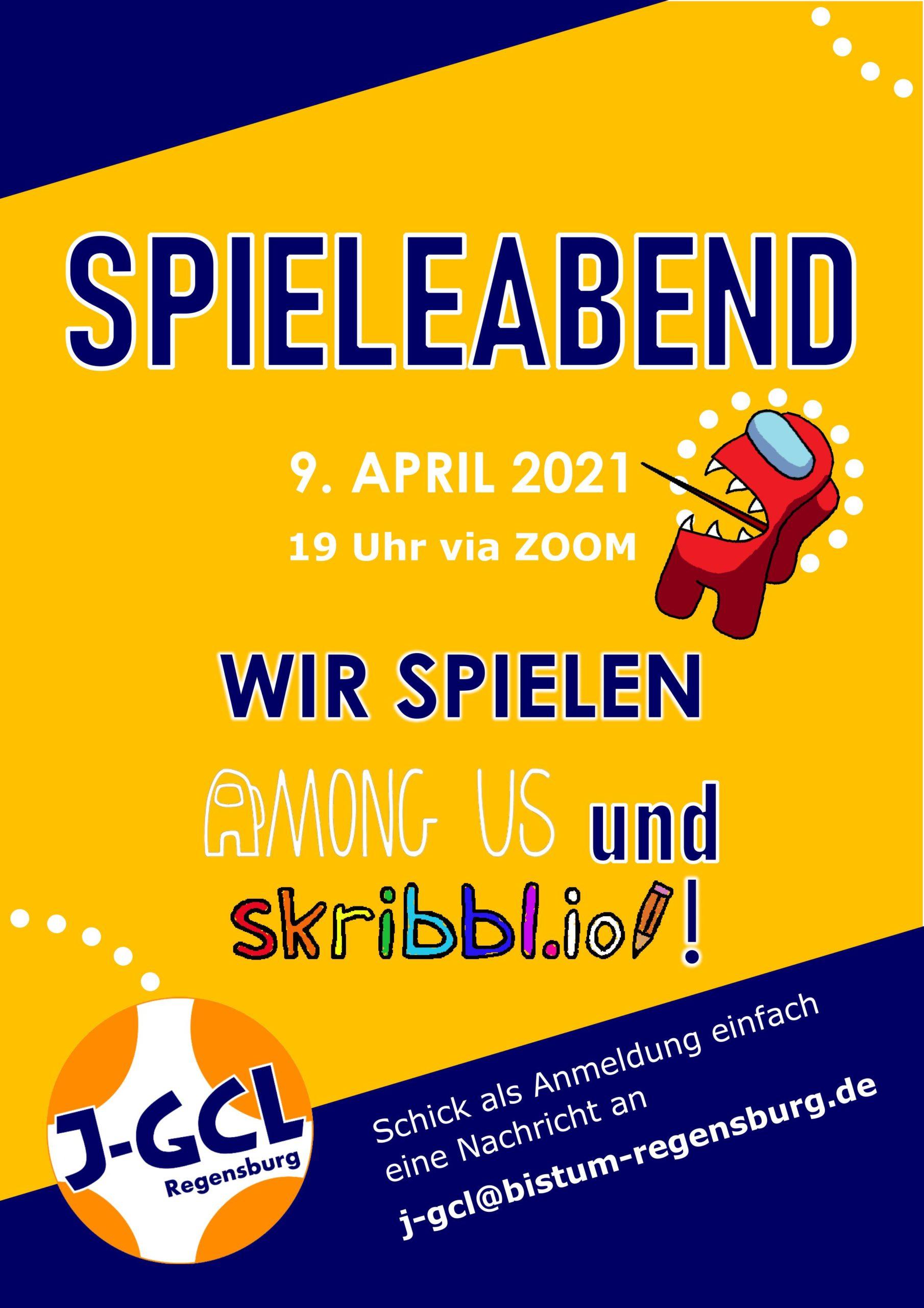 Einladung Spieleabend 9. April