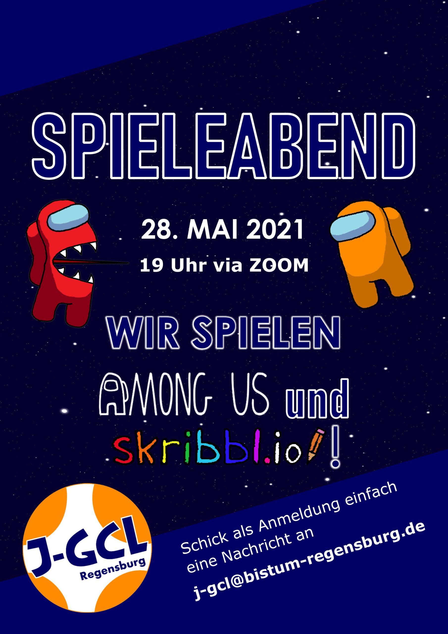 Einladung Spieleabend 28. Mai