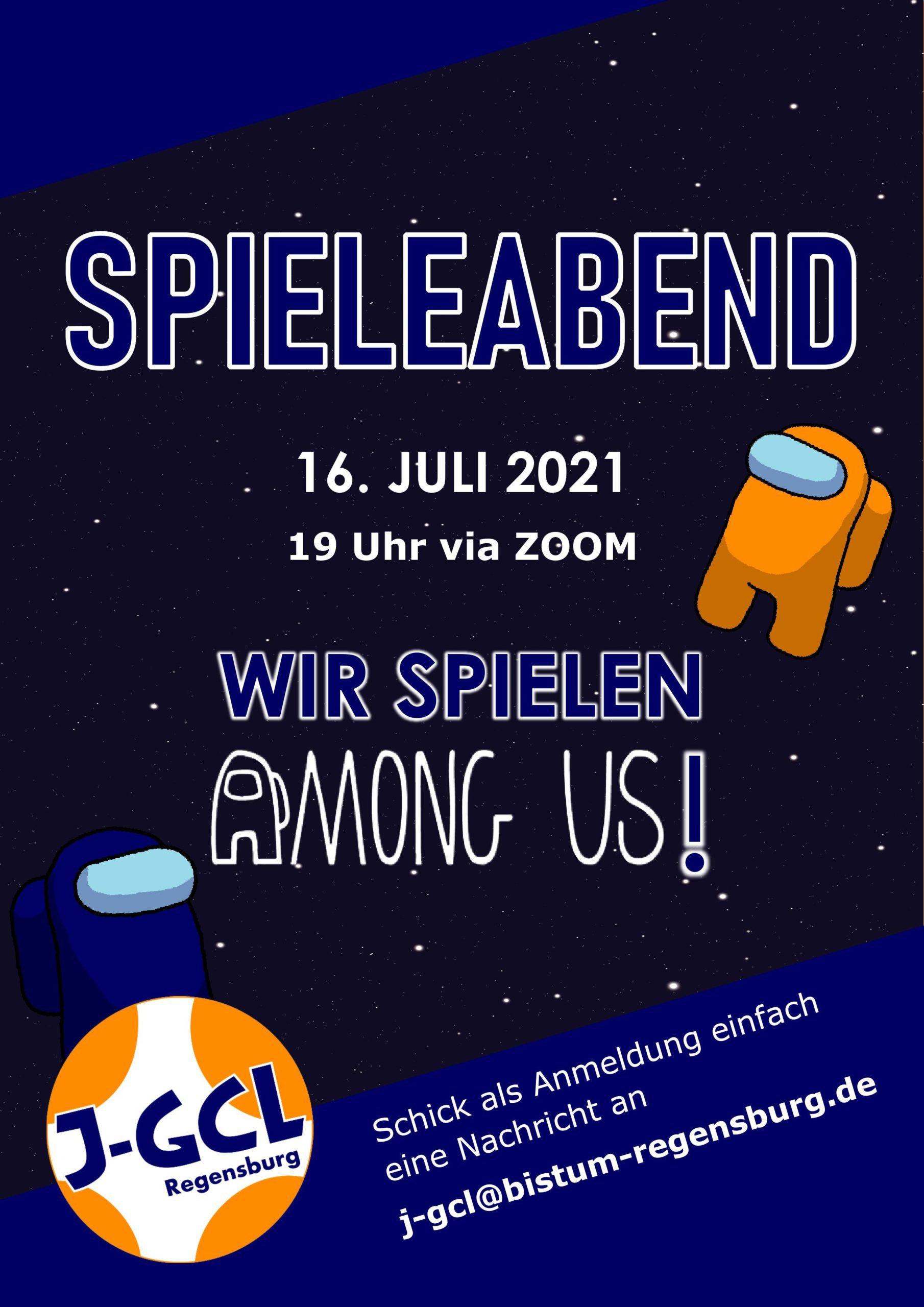 Einladung Spieleabend 16. Juli